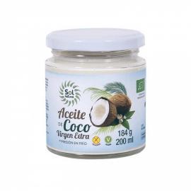 Aceite Coco Virgen Extra Bio 200 Ml Sol Natural