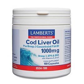 Cod Liver Oil 1000 Ml Lamberts 180 Cap
