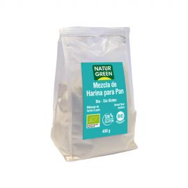 Mezcla de Harina Para Pan Bio Sin Gluten 400 Gr
