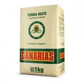 Yerba Mate Canarias Con Te Verde y Jengibre 1 Kg