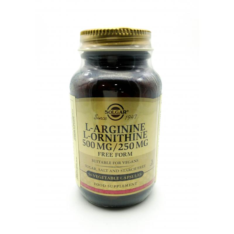 L-ARGININE - L-ORNITHINE 500 MG/250 MG 50 CAP