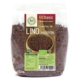 Semillas de Lino Marrón Bio 500 Gr Sol Natural